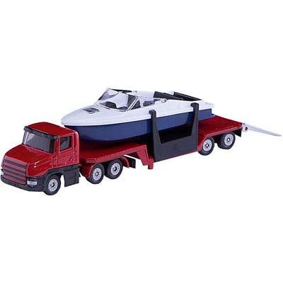 SIKU - Low Loader with Speed Boat - 1:55 Scale