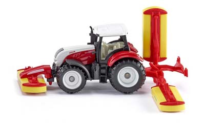 SIKU - Steyr with Pottinger Mower Combination - 1:87 Scale
