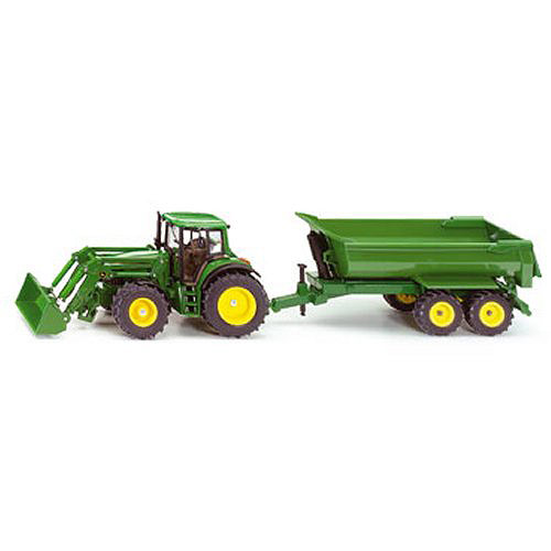 John Deere with Front Loader & Trailer