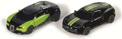 SIKU - Special Edition Bugatti Pack - Black and Green