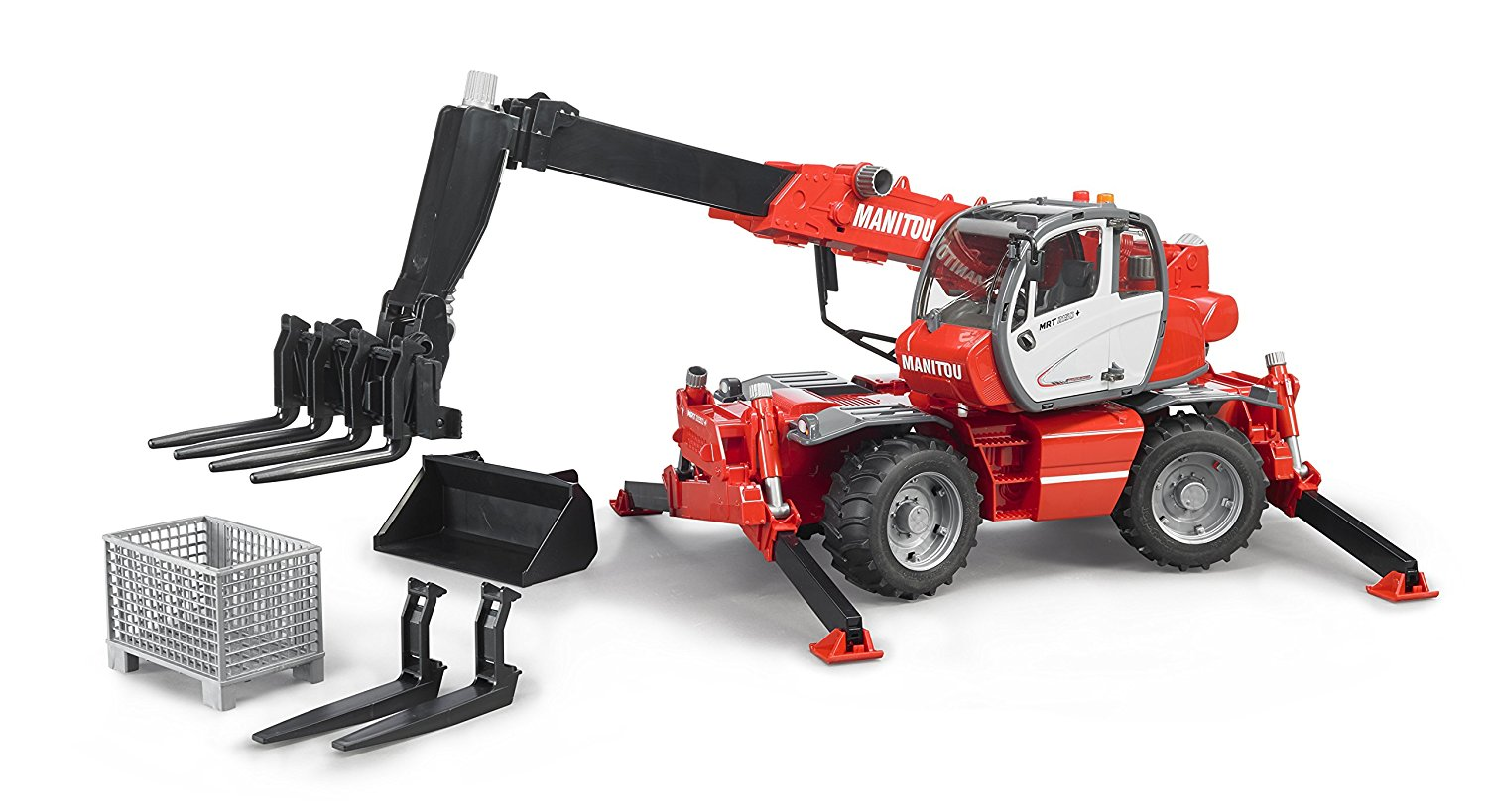 manitou mrt 2150 telehandler with accessories set