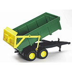 tipping trailer with automatic tailgate - green