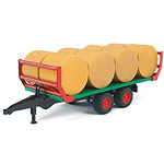 bale trailer with bales