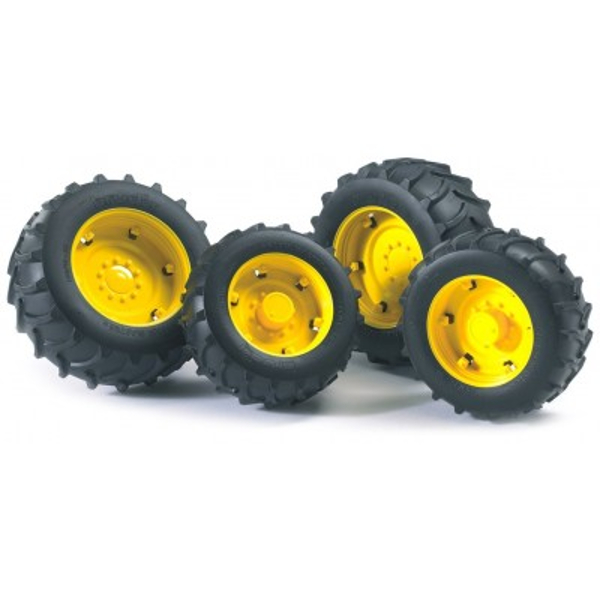 twin tyres with yellow rims