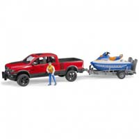 ram 2500 power wagon with trailer and water craft