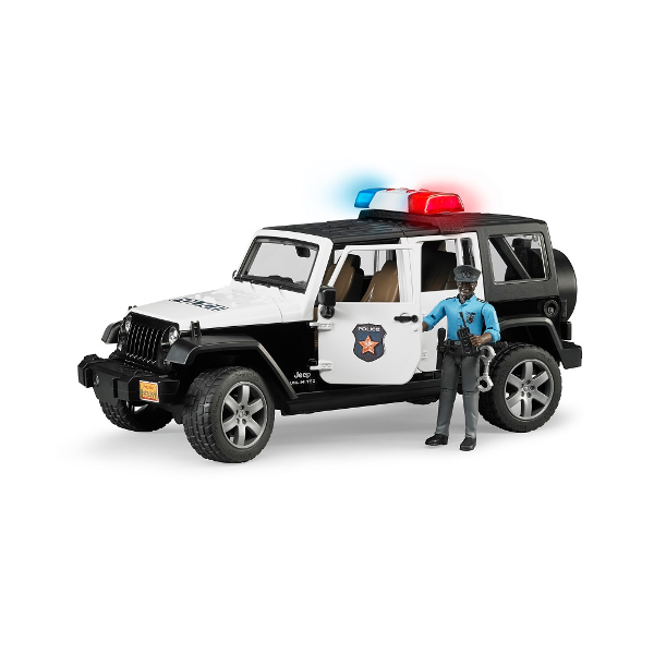 jeep wrangler unlimited rubicon police vehicle with policeman - version 2