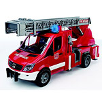 mercedes benz sprinter fire engine with ladder and waterpump