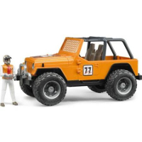 jeep cross country racer with driver - orange - 1:16 scale