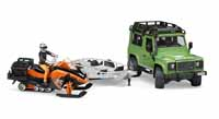 land rover defender and jeep snow mobile - 1:16 scale