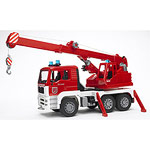 man fire engine crane truck with light and sound