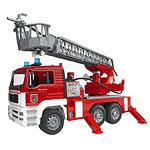 man fire engine with light and sound