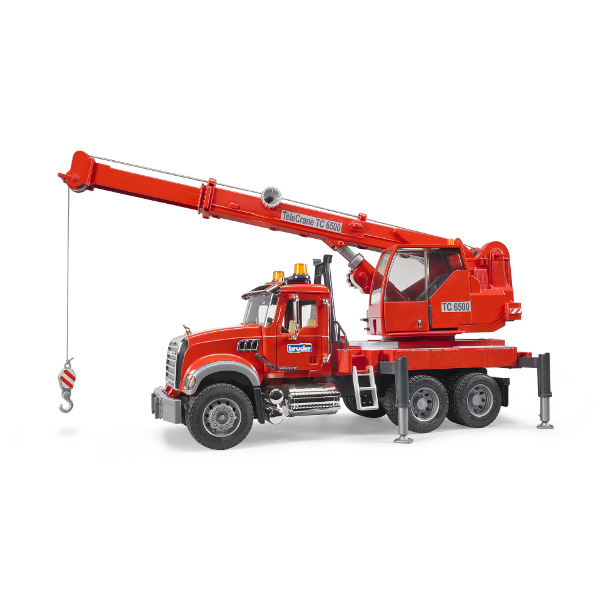 granite crane truck with light and sound module - mack