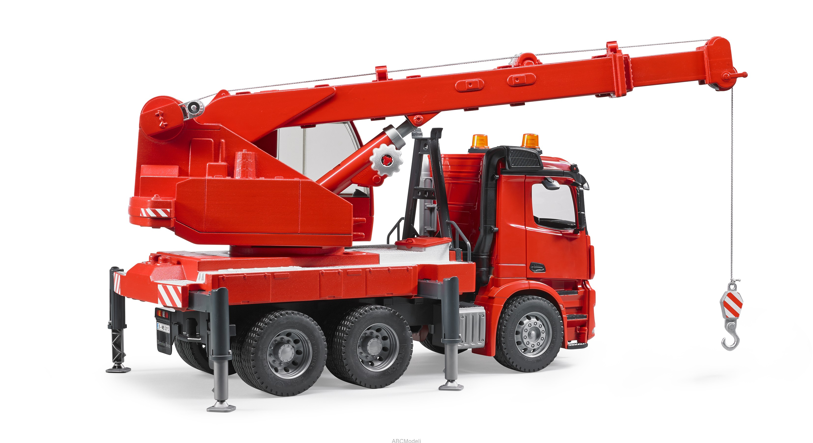 mercedes benz arocs crane truck with light and sound module