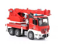 mb arocs fire engine crane truck with light and sound module