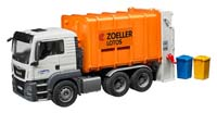 man tgs rear loading garbage truck - orange - 1:16