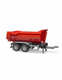 bruder - half pipe tipping trailer - 1:16 scale