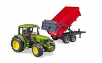 john deere 6920 with tipping trailer - 1:16 scale