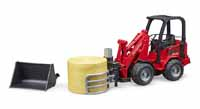 schaffer compact loader with bale - 1:16 scale