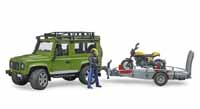 landrover with railer and ducati - 1:16 scale