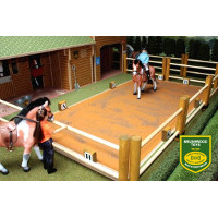 dressage arena and paddock - 1:12 scale
