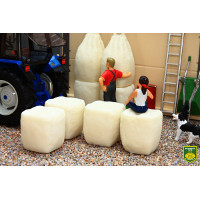 squashed dumpy bags x4 - 1:35 scale