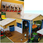 storage shed with calf lean to