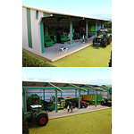 euro style tractor and machinery shed