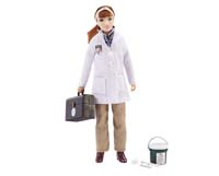 laura - veterinarian with vet kit