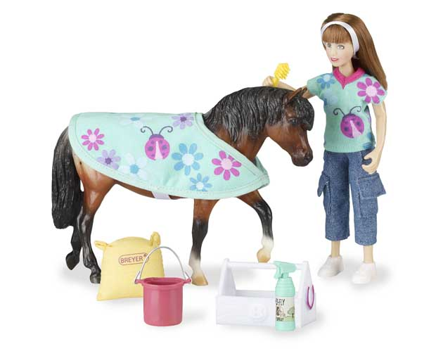 pony care - horse and accessory set