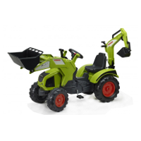 claas axos 330 wish swivel seat, front loader and backhoe.