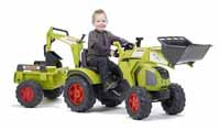 falk claas 330 with swivel seat, front loader and trailer
