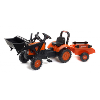 kubota m7171 with front loader and trailer