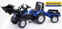 falk new holland t8 with loader and trailer