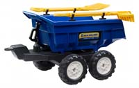 new holland maxi tilt trailer with shovel and rake