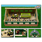 small wooden cow stable