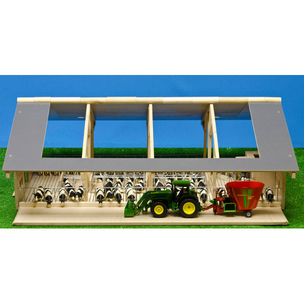 open front farm with milk robot