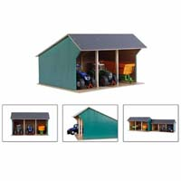 kids globe - farm shed for tractors - 1:32 scale