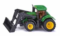 john deere 6215r tractor with frontloader - 1:87 scale
