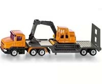 siku - low loader with excavator - 1:55 scale
