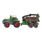 fendt tractor with forestry trailer