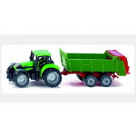 deutz tractor with manure spreader