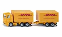dhl truck with trailer - 1:87 scale