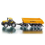jcb tractor with dolly and tipping trailer