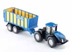 new holland with silage trailer - 1:50 scale