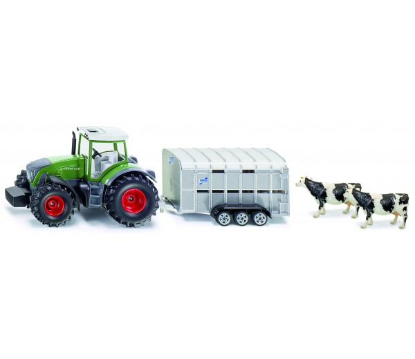 fendt with livestock trailer - 1:50 scale