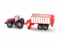massey ferguson with pottinger jumbo trailer - 1:50 scale