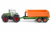 fendt with hooklift trailer and carriage - 1:50 scale