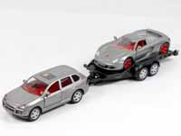 car with trailer and sportscar - 1:55 scale