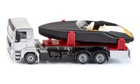 man truck with motorboat - 1:50 scale