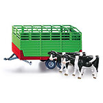 stock trailer with 2 cattle